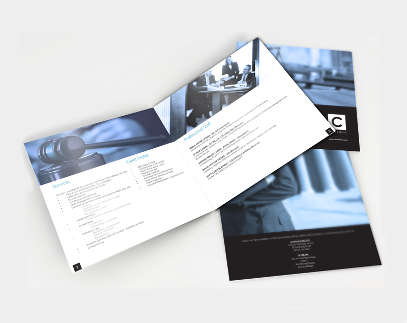 Graphic Design aocassim brochure