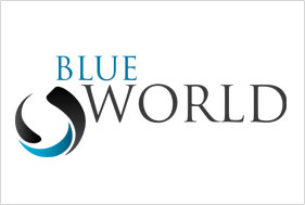 Logo Design Blue world