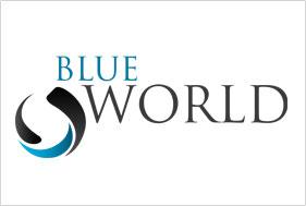 Logo Design Blue world