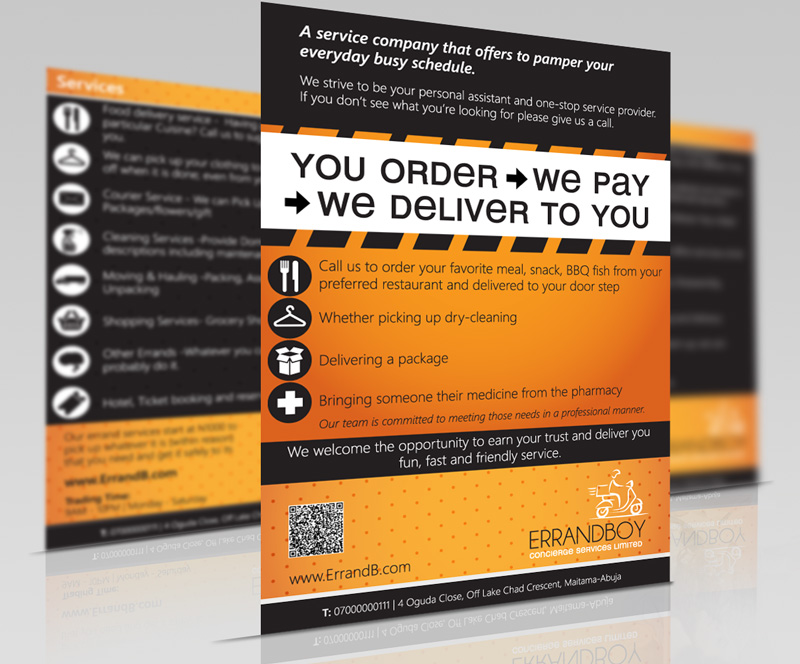 errand and delivery service flyers errandboy flyer 1021 media and design