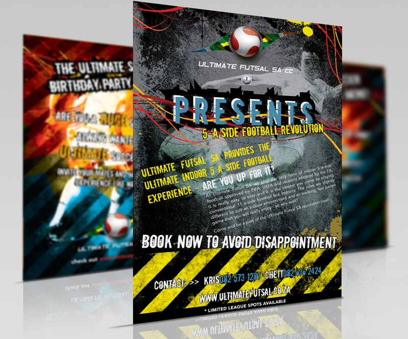 Graphic Design futsal flyer