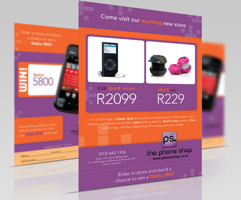 Graphic Design phone shop flyer