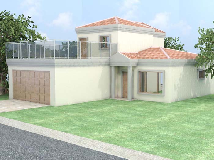 Architectural 3D 22 House external view
