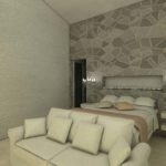 Architectural 3D Champetre bedroom interior corrected