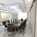Architectural 3D Mediterranean Hotel Executive boardroom Option 2 camera 1 high res