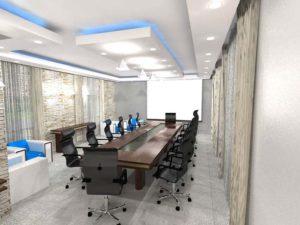 Architectural 3D Mediterranean Hotel Executive boardroom Option 2 camera 1 high res