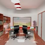 Architectural 3D Private study interior view 1