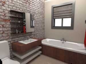 Architectural 3D Saresco Illustrations Bathroom 1
