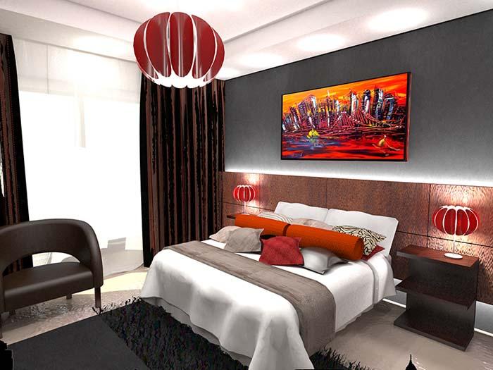 Architectural 3D Saresco Illustrations Bedroom 1