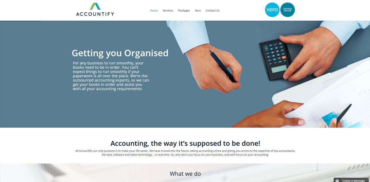 Website Design accountify