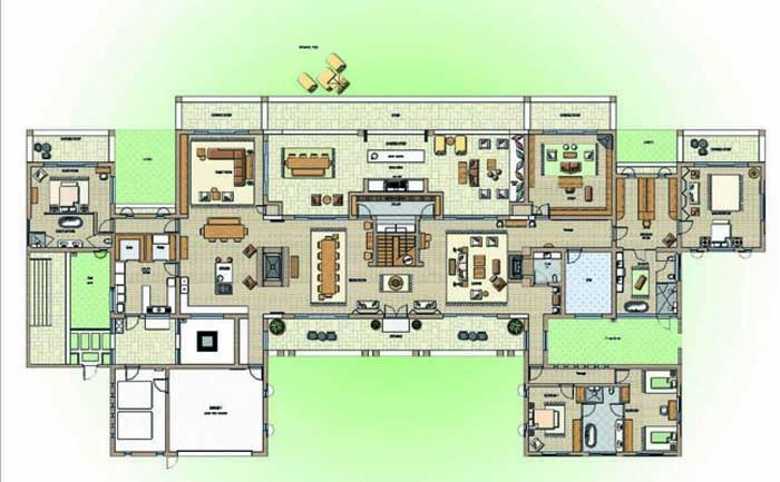 Architectural 3D colouredplan