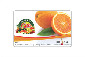 Card design fruit & veg
