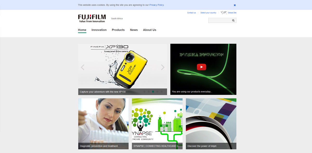 Website Design fujifilm