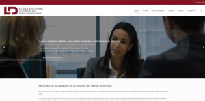 Website Design leroux attorneys 1