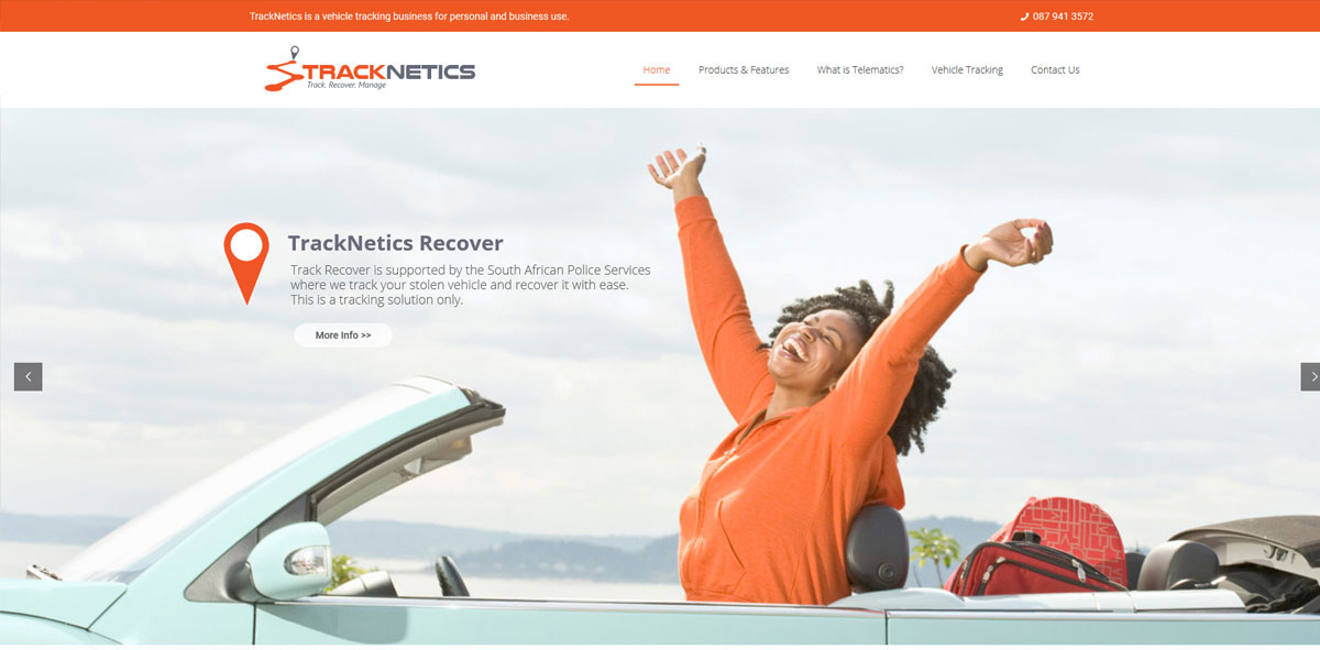 Website Design tracknetics 1