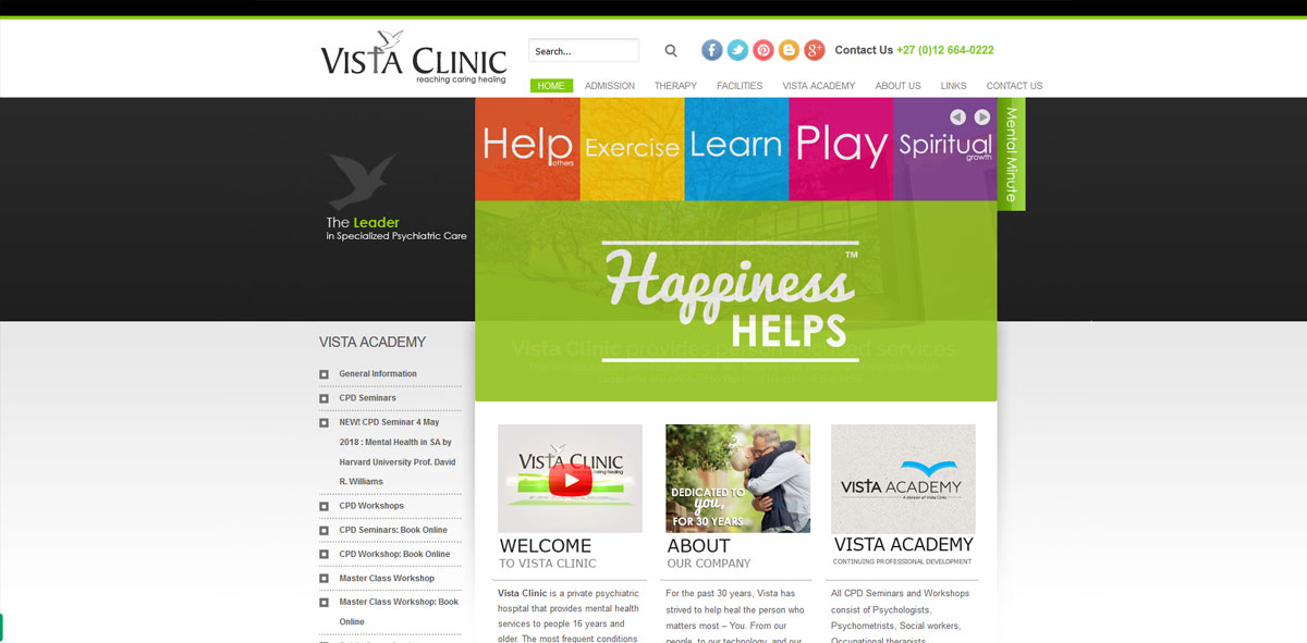 Website Design vistaclinic